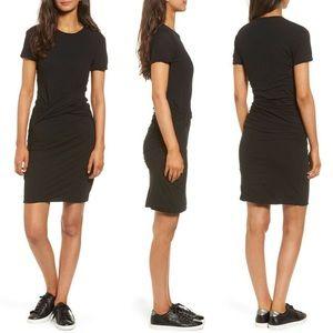 James Perse Twisted Drape Dress Black Jersey XS/S